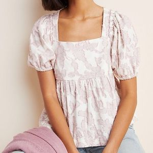 ANTHROPOLOGIE MAEVE Textured Babydoll Top